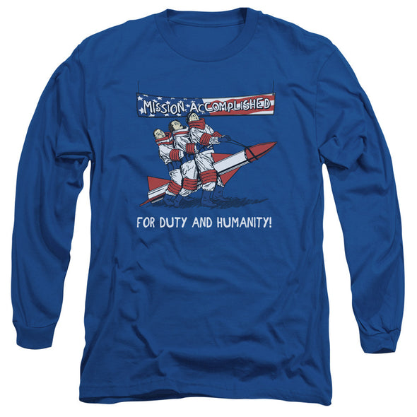 Three Stooges/Mission Accomplished - L/S Adult 18/1 - Royal