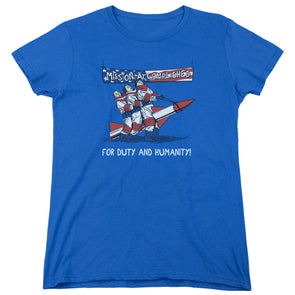 THREE STOOGES/MISSION ACCOMPLISHED - WOMEN'S SHORT SLEEVE  - ROYAL