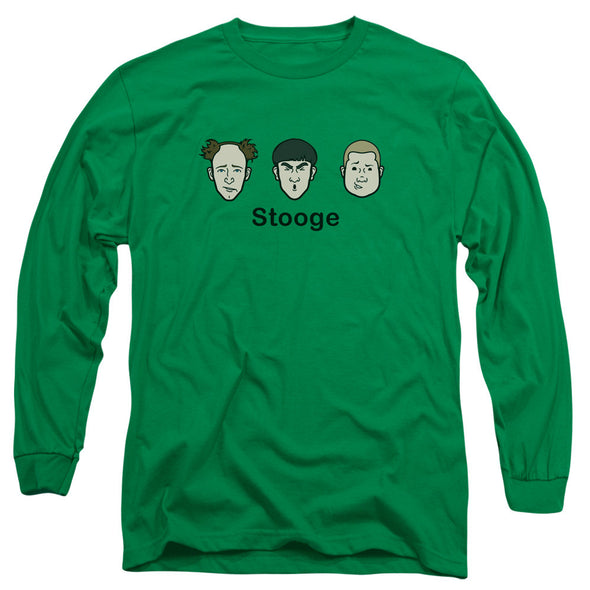 THREE STOOGES/STOOGE - L/S ADULT 18/1 - KELLY GREEN