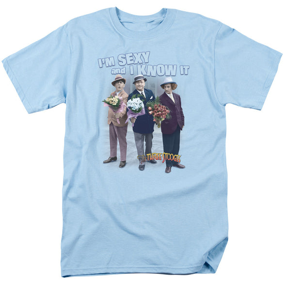 THREE STOOGES/SEXY - S/S ADULT 18/1 - LIGHT BLUE