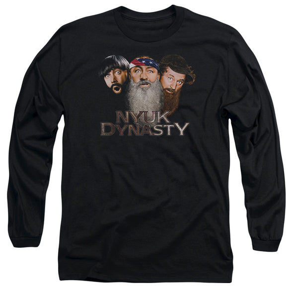 THREE STOOGES/NYUK DYNASTY 2 - L/S ADULT 18/1 - BLACK