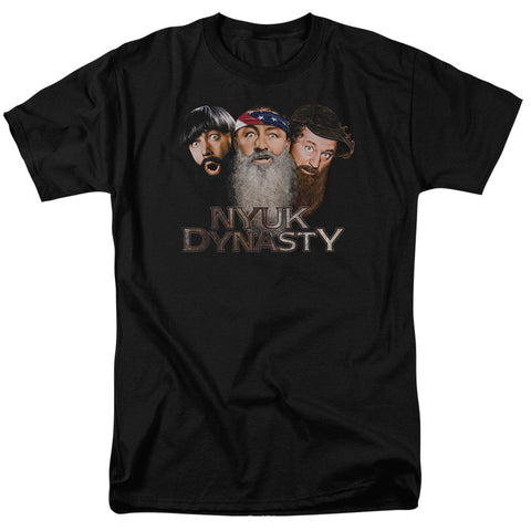 THREE STOOGES/NYUK DYNASTY 2 - S/S ADULT 18/1 - BLACK