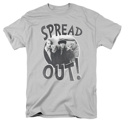 THREE STOOGES/SPREAD OUT-S/S ADULT 18/1-SILVER