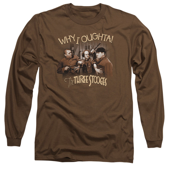 Three Stooges/Why I Oughta-L/S Adult 18/1-Coffee