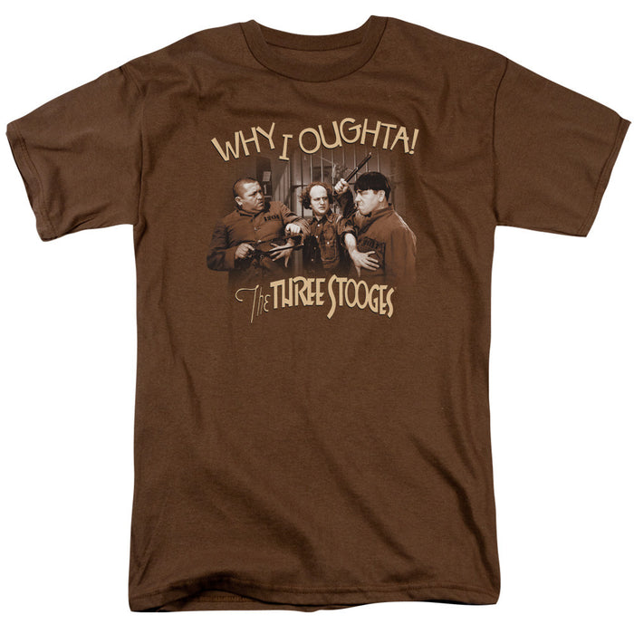 Three Stooges/Why I Oughta-S/S Adult 18/1-Coffee