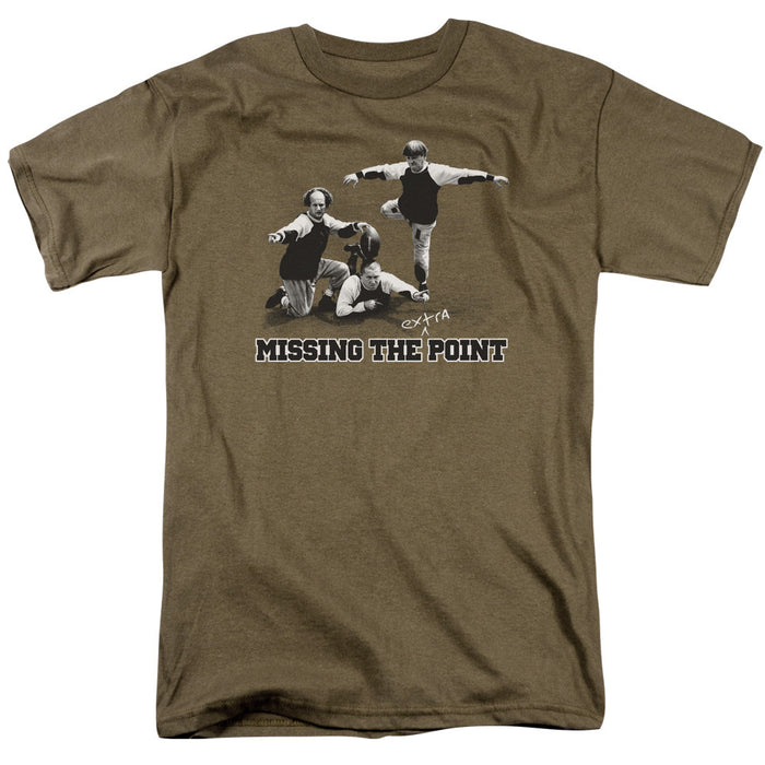 Three Stooges Missing The Point Football T-Shirt