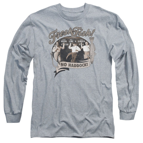 THREE STOOGES/FRESH FISH-L/S ADULT 18/1-ATHLETIC HEATHER