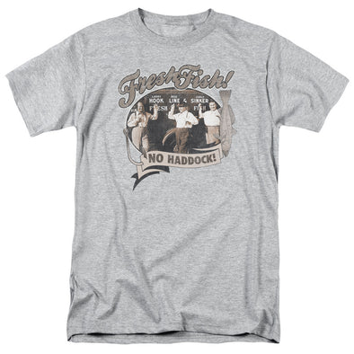 THREE STOOGES/FRESH FISH-S/S ADULT 18/1-ATHLETIC HEATHER