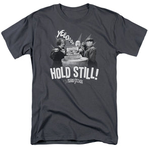 THREE STOOGES/HOLD STILL-S/S ADULT 18/1-CHARCOAL