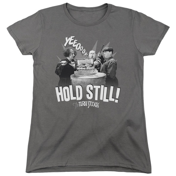 Three Stooges/Hold Still - Women'S Short Sleeve  - Charcoal