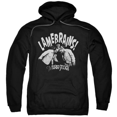 THREE STOOGES/LAMEBRAINS-ADULT PULL-OVER HOODIE-BLACK