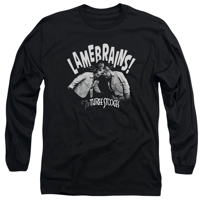 Three Stooges/Lamebrains-L/S Adult 18/1-Black