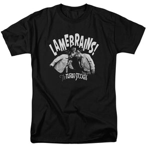 THREE STOOGES/LAMEBRAINS-S/S ADULT 18/1-BLACK