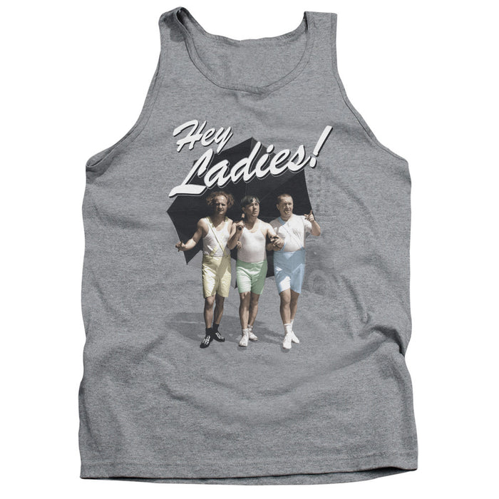 Three Stooges/Hey Ladies-Adult Tank-Athletic Heather