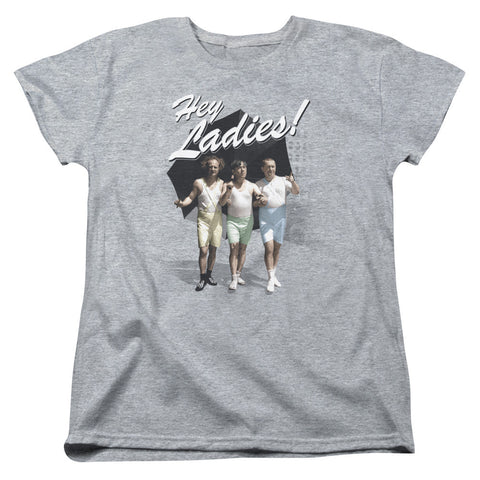 THREE STOOGES/HEY LADIES-S/S WOMEN'S TEE-ATHLETIC HEATHER