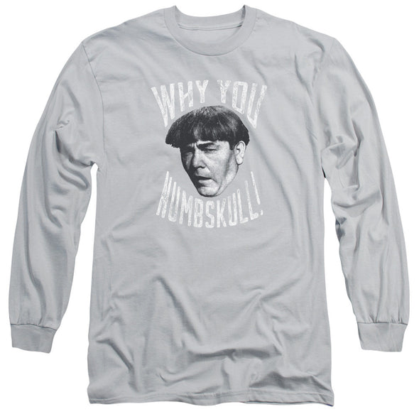 THREE STOOGES/NUMBSKULL-L/S ADULT 18/1-SILVER