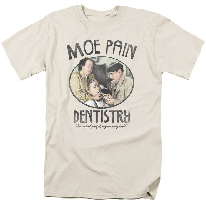 Three Stooges/Moe Pain-S/S Adult 18/1-Cream/Ivory