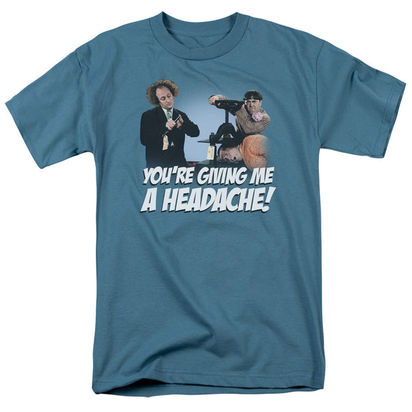 THREE STOOGES/HEADACHE-S/S ADULT 18/1-SLATE