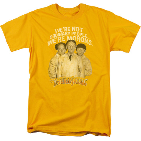 THREE STOOGES/MORONS-S/S ADULT 18/1-GOLD