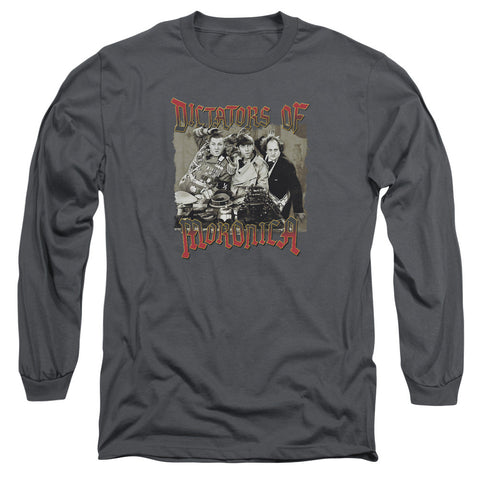 THREE STOOGES/MORONICA-L/S ADULT 18/1-CHARCOAL