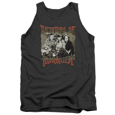 Three Stooges/Moronica-Adult Tank-Charcoal