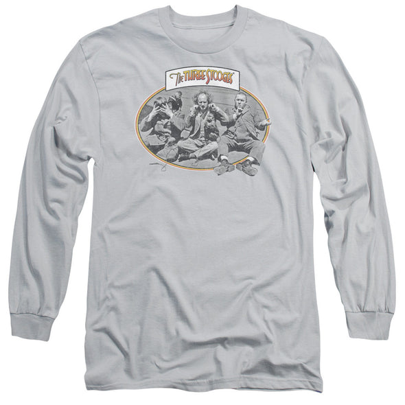 THREE STOOGES/MONKEY SEE-L/S ADULT 18/1-SILVER