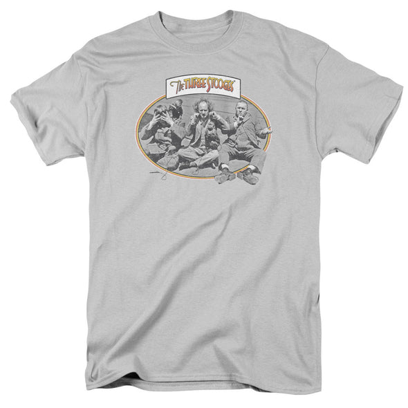 THREE STOOGES/MONKEY SEE-S/S ADULT 18/1-SILVER