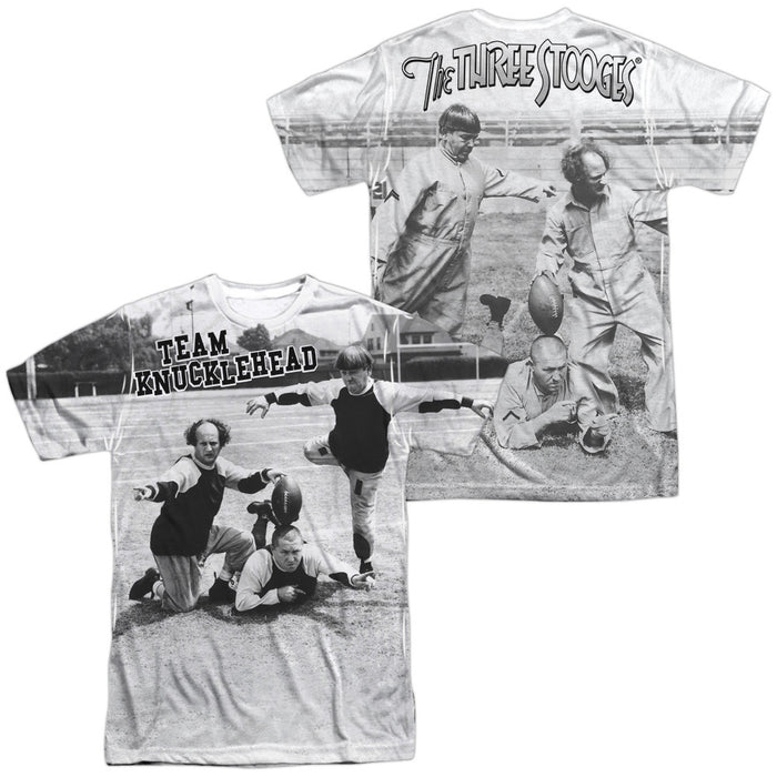 Three Stooges Team Knucklehead (Front/Back Print) T-Shirt