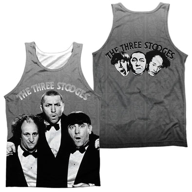 Three Stooges Classy Fellas (Front/Back Print) Tank Top-White