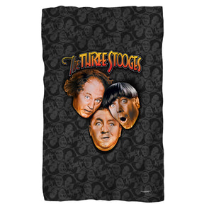 The Three Stooges Fleece Blanket: Stooges All Over - 36x58 - Allow 7 business days for processing time before ready to ship