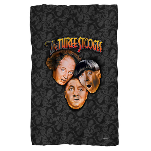 The Three Stooges Fleece Blanket: Stooges All Over - 36x58