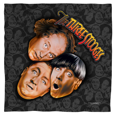 Three Stooges Bandana | Stooges All Over- 22X22 - Face Cover