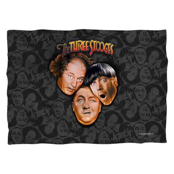 The Three Stooges Pillow Case: Stooges All Over - 20x28 - One Size - Allow 7 business day processing time before available to ship