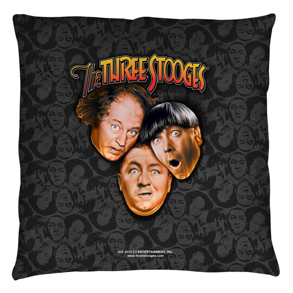 The Three Stooges Throw Pillow: Stooges All Over - 16x16 - Allow 7 business days for processing time before ready to ship