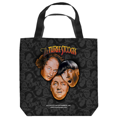 The Three Stooges Tote Bag: Stooges All Over - 9x9