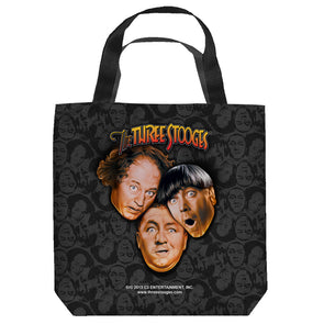 The Three Stooges Large Tote Bag: Stooges All Over - 18x18