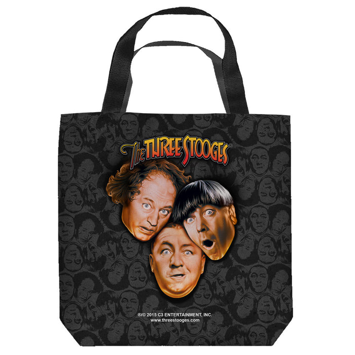 Three Stooges Large Tote Bag: Stooges All Over - 18X18