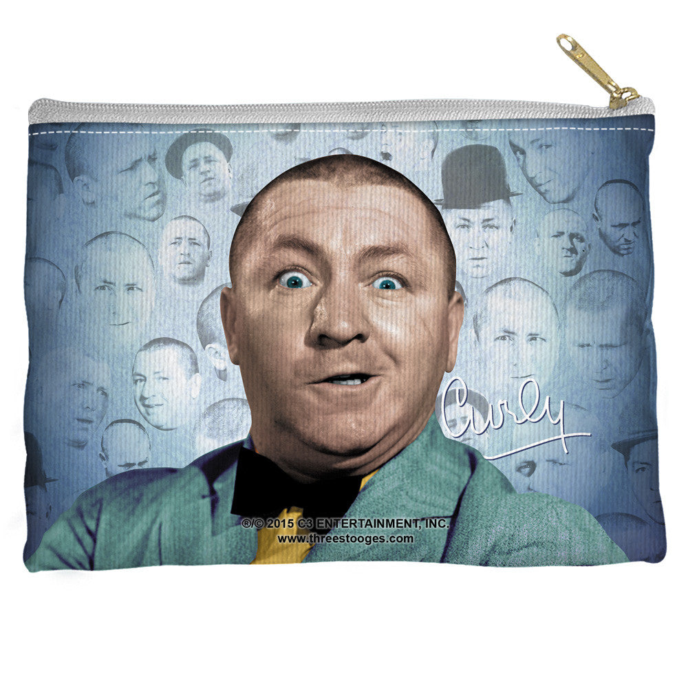 The Three Stooges Accessories Pouch: Curly Heads - 8.5x6