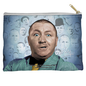 Three Stooges Accessories Pouch | Curly Heads - 8.5X6