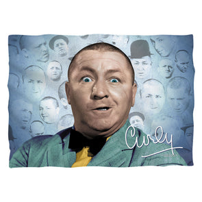 The Three Stooges Pillow Case: Curly Heads - 20x28 - One Size - Allow 7 business day processing time before available to ship
