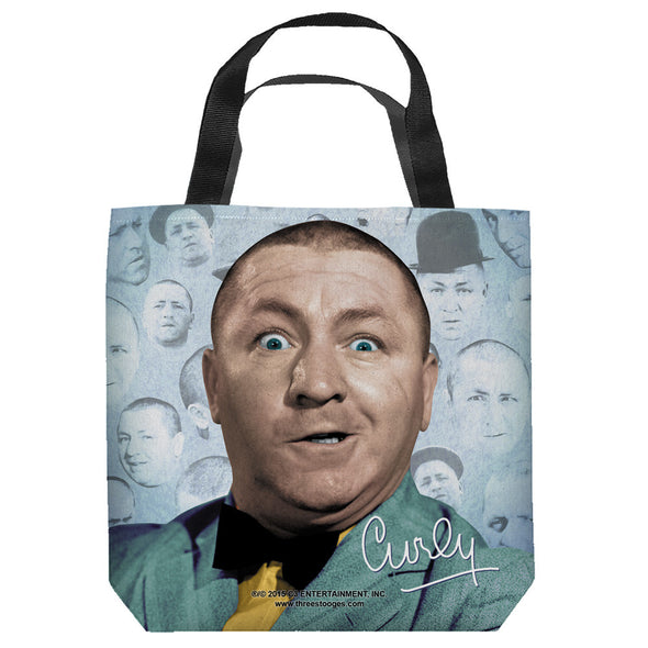 Three Stooges Tote Bag: Curly Heads - 18X18