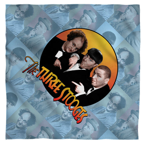 The Three Stooges Bandana: Portraits - 22x22