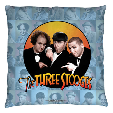 The Three Stooges Throw Pillow: Portraits- 14x14 - Allow 7 business days for processing time before ready to ship