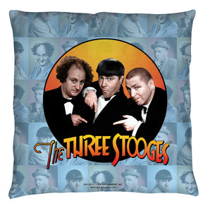The Three Stooges Throw Pillow: Portraits - 18x18 - Allow 7 business days for processing time before ready to ship