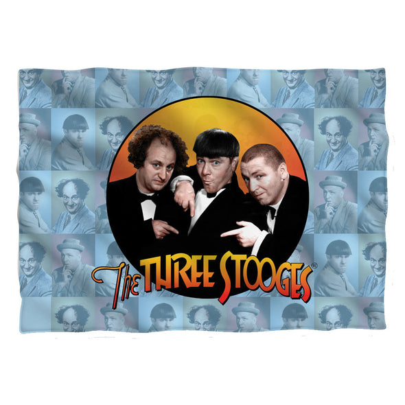 Three Stooges Pillow Case: Portraits Front/Back Print - 20X28