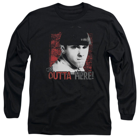 THREE STOOGES/GET OUTTA HERE-L/S ADULT 18/1-BLACK