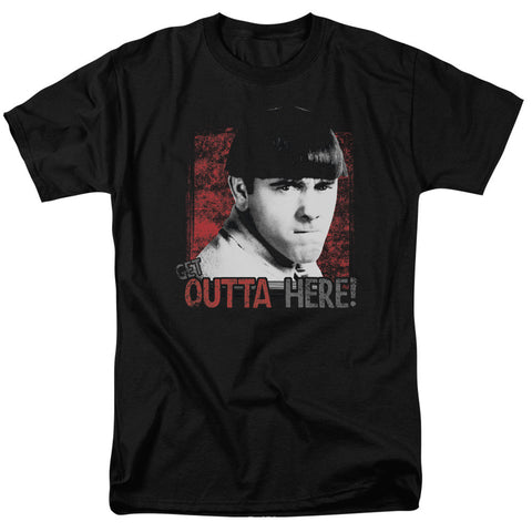 THREE STOOGES/GET OUTTA HERE-S/S ADULT 18/1-BLACK