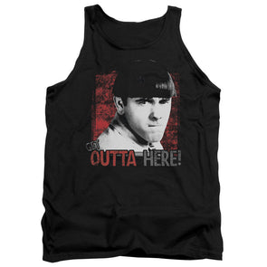 Three Stooges/Get Outta Here-Adult Tank-Black