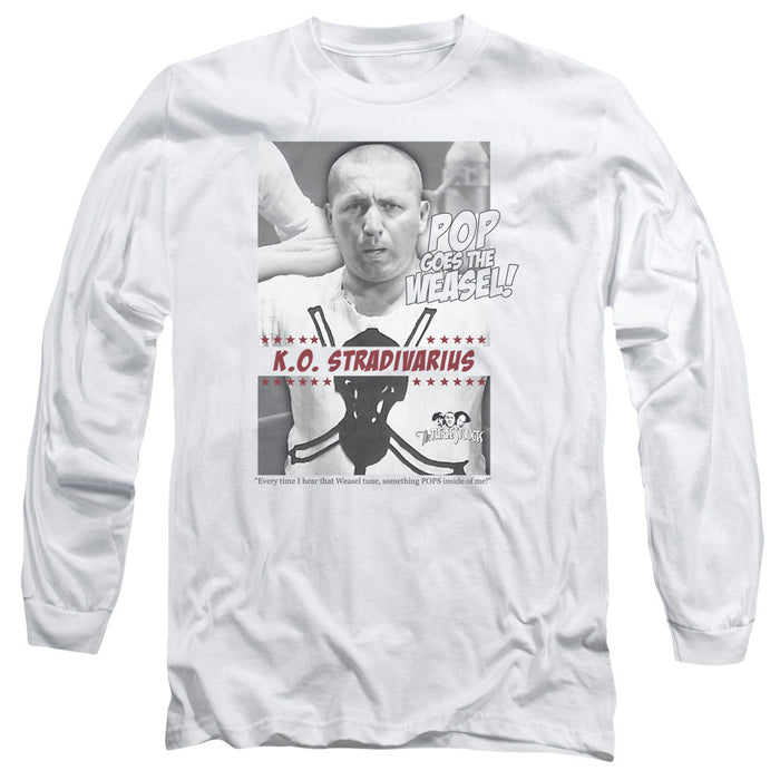 Three Stooges/Weasel-L/S Adult 18/1-White