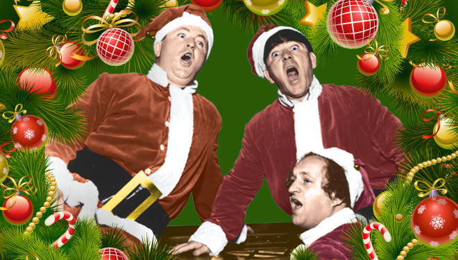 Three Stooges Christmas Cards Bundle Of 25 W Envelope Free